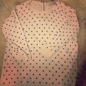 Star-print Loft cropped sleeve sweater